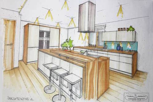 Eichenboden küche